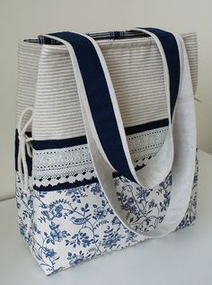 Mother,s bag by SandraStJu, via Flickr - tie at the side and lace looks nice