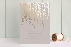 Cascade Foil-Pressed Wedding Invitations by Lori Wemple at minted.com