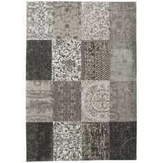 Louis De Poortere Rugs Vintage Multi 8101 Black White - Free UK Delivery - The Rug Seller
