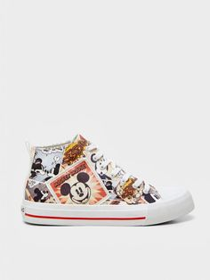 Desigual Collections | Fun Fashion Online Boutique Online Fashion Boutique, Fashion Online, Cool High Tops, High Top Sneakers, Shoes Sneakers, Disney Shoes, Top Shoes, Mickey Mouse, Cool Style