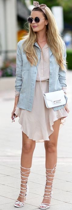 Dusty Pink And Gray Fall Streetstyle Inspo by Annette Haga