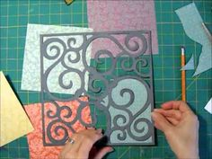 Scrapbook Process for Die Cut Background and 6x6 Papers - YouTube