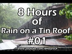 8 Hours of relaxing rain on a tin roof. If you listen to this during sleep or meditation you will feel peaceful and calm. Great for tinnitus meditation or when you study.  Please like, subscribe and comment if you enjoyed this video. It will really help me out a lot. :)  http://www.youtube.com/subscription_center?add_user=8hoursof