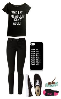"""Sam"" by xxmia-hood-xx ❤ liked on Polyvore featuring Vans and Chan Luu"