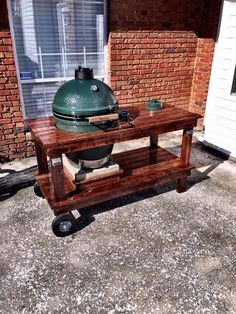 Big Green Egg Table Made From Naked Whiz.com Table Plans