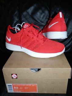 Nike Lunar FlyKnit HTM NRG Red 9.5 US DS SneakersForSaleTumblr gmail.com  Sneakers For 50bac2ec5