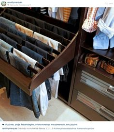 Organizacao closet masculiio