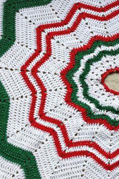 Christmas Crochet Blanket, Christmas Afghan, Christmas Skirt, Crochet Christmas Trees, Christmas Tree Pattern, Christmas Crochet Patterns, Afghan Crochet Patterns, Christmas Knitting, Black Christmas