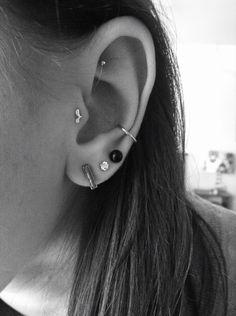 Bohemian piercings #Tragus #Snug #TrippleLobes #Cartilage