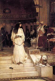 |Mariamne wordt ter dood veroordeeld door Herodes de Grote, John William Waterhouse  1887. Mariamne wordt als tweede echtgenote van Herodes  in 29BC ter dood veroordeeld.