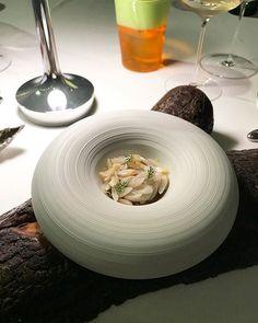 Arroz de Morcilla y Navajas.  Black pudding and razor clams rice.  #marbella #danigarcia #malaga #michelin #restaurant