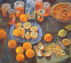 Making Marmalade.   pastel.                                       Felicity House