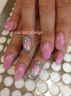 Glitter French Dip by nailbarLounge - Nail Art Gallery nailartgallery.nailsmag.com by Nails Magazine www.nailsmag.com #nailart