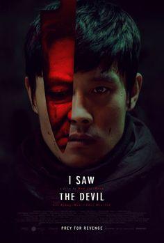 악마를 보았다 외국 포스터. 장난 아님