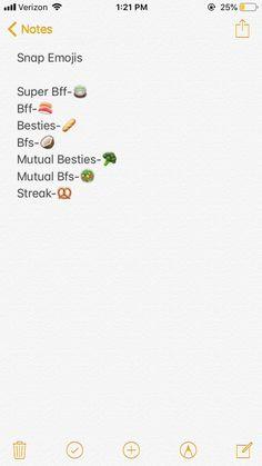 Snapchat Friend Emojis, Snapchat Names, Snapchat Streak, Snapchat Ideas, Cute Insta Captions, Emojis Meanings, Snap Emojis, Emoji Combinations, Australia Funny