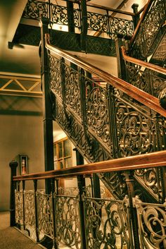 Monadnock Building Staircase HDR 3 by Charlie Thomason