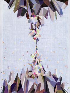Bo Haglund, Mountain #2, ink and gouache on paper, 150 x 114cm, 2012