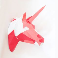 DIY Papercraft Unicorn Sculpture Pre-cut papercraft kit | Etsy Unicorn Head, Paper Glue, Sculptures, Diy Crafts, Kit, Handmade Gifts, Etsy, Collection, Kid Craft Gifts