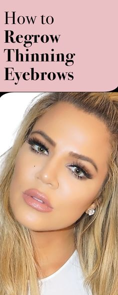 This Is How Khloe Kardashian Regrew Her Thinning Brows