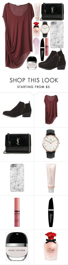 """D O L Y"" by valucarrots ❤ liked on Polyvore featuring Bamboo, Helmut Lang, Yves Saint Laurent, Daniel Wellington, Aveda, NYX, Max Factor, Marc Jacobs, Dolce&Gabbana and Lipstick Queen"