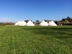 @Glampit: Stunning weather for the wedding of Gemma and Colin at York Maze Bell tent village. Yorkshire Glamping