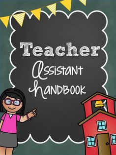 Printable teacher assistant handbook for preschool and kindergarten teachers looking for tips and advice for working with an assistant.