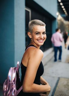 Icy Short Pixie Cut - 60 Cute Short Pixie Haircuts – Femininity and Practicality - The Trending Hairstyle Long Pixie Hairstyles, Short Pixie Haircuts, Trending Hairstyles, Men's Hairstyles, Super Short Pixie, Very Short Hair, Short Hair Cuts, Short Buzzed Hair, Buzzed Pixie