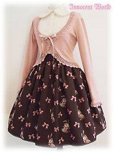 IW Rabbit Gobelin skirt (or JSK) in brown
