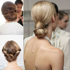 Low wedding hairstyle ideas for long hair
