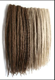 Synthetic dread extensions - brown and blonde natural dreads - full set