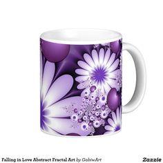 Falling in Love Abstract Fractal Art Coffee Mug