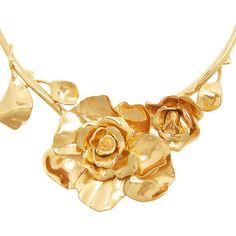Oscar De La Renta Rosette necklace ($570) ❤ liked on Polyvore featuring jewelry, necklaces, rose pendant, rosette necklace, party jewelry, rose jewellery and adjustable necklace