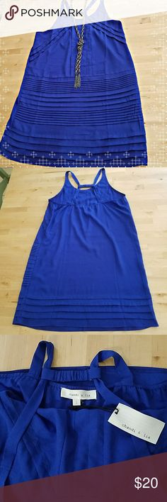 Urban Outfitters Shift Dress NWT Urban Outfitters Shift Dress. Royal blue. Light and perfect for summer!  Back straps are gathered by elastic bands. Urban Outfitters Dresses Mini