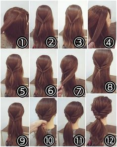 50 Simple And Creative Hairstyles For Long Hair- Both Braided and Free Styles - . # ponytail hairstyles casual 50 Simple And Creative Hairstyles For Long Hair- Both Braided and Free Styles - . Twist Ponytail, Simple Ponytails, Ponytail Easy, Easy Updo, Braids Easy, Cute Updos Easy, Messy Braids, Ponytail Hairstyles, Cool Hairstyles