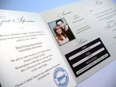 Wedding Passport styled wedding invitation - this design is printed in purple but any colours are available. The RSVP is perforated.
