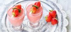 Ijskoude aardbeien smoothie