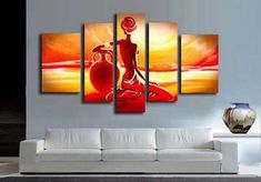 35 cuadros modernos abstractos, trípticos, dípticos… | Mil Ideas de Decoración Picture Wall, Picture Frames, Buddha Artwork, Buddha Decor, Acrylic Painting Lessons, African American Art, Pictures To Paint, Wood Print, Wall Lights
