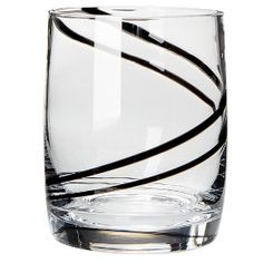 Black Swirl Double Old-Fashioned water glasses