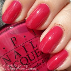 OPI This is Not Whine Country - red-leaning pink nail polish / lacquer / vernis, swatch / manicure