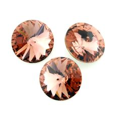 Eureka Crystal Beads - 1122 10mm (47ss) Rivoli BLUSH ROSE Swarovski Crystal Stones (4), $2.45 (http://www.eurekacrystalbeads.com/1122-10mm-47ss-rivoli-blush-rose-swarovski-crystal-stones-4/)