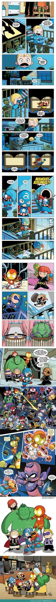 Baby Avengers! This is the cutest thing I've seen in a while