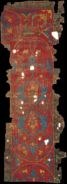 The Muse East Mediterranean cartouche-border carpet, Damascus, Syria, 15th or 16th century. The Museum of Islamic Art, Qatar