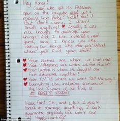 Fuente Oh La La... Ruptura por carta muy buena....