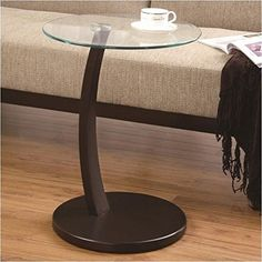 Coaster 900256 Round Accent Table with Glass Top and Cappuccino Base >>> Want to know more, click on the image.Note:It is affiliate link to Amazon.