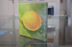 Drucke auf Leinwand - KÜCHE/ ESSZIMMER Leinwanddruck Zitrone, Stilleben - ein Designerstück von LeinwandKacheln bei DaWanda