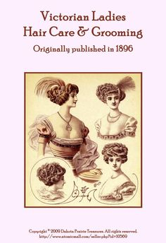 1896 Victorian Hair Care Book Pomades Shampoo by schmetterlingtag, $14.99