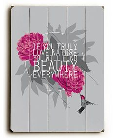 Loving this 'Beauty Everywhere' Wood Wall Sign on #zulily! #zulilyfinds