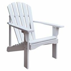 """Relax in classic style with this indoor/outdoor cedar wood Adirondack chair, awash in a white finish for crisp style.  Product: Adirondack chairConstruction Material: Cedar wood Color: White Features:  Rust resistant hardware13.25"""" Seat heightCurved seat for comfort Suitable for indoor or outdoor use  Dimensions: 36"""" H x 28.25"""" W x 35"""" DAssembly:Easy assembly required"""