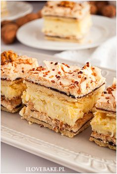 ciasto pani walewska Baking Recipes, Cake Recipes, Dessert Recipes, Icebox Cake, Polish Recipes, Different Recipes, Cake Cookies, No Bake Cake, Sweet Recipes