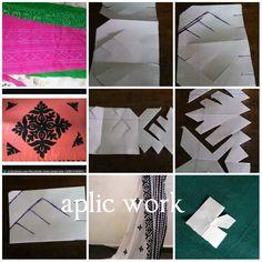 aplic work Hand Applique, Applique Patterns, Applique Quilts, Applique Designs, Hand Embroidery Videos, Indian Embroidery, Embroidery Thread, Embroidery Suits Design, Embroidery Designs